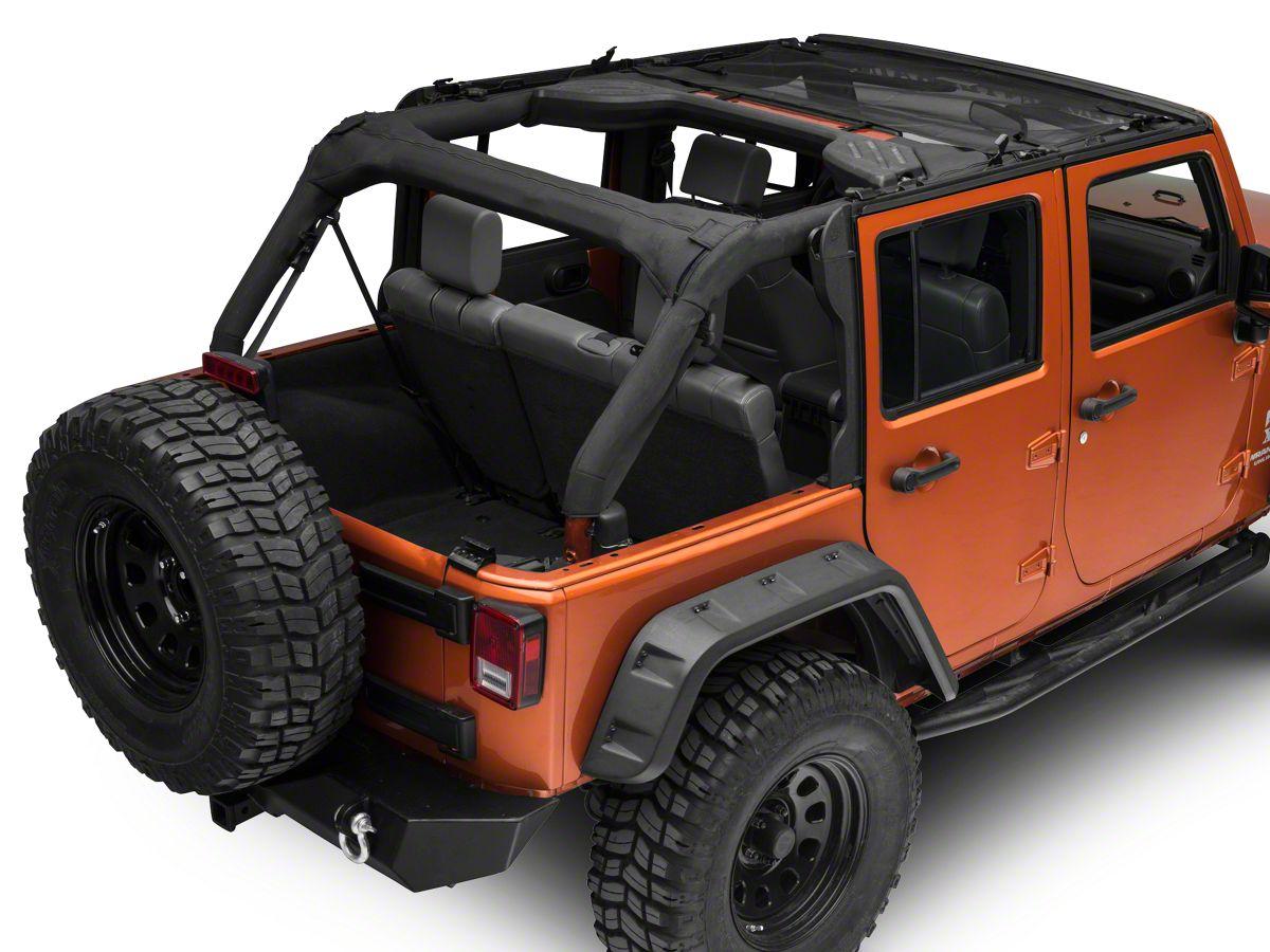 Jeep Bimini Top >> Bestop Targa Style Sun Bikini Top Mesh 07 18 Jeep Wrangler Jk