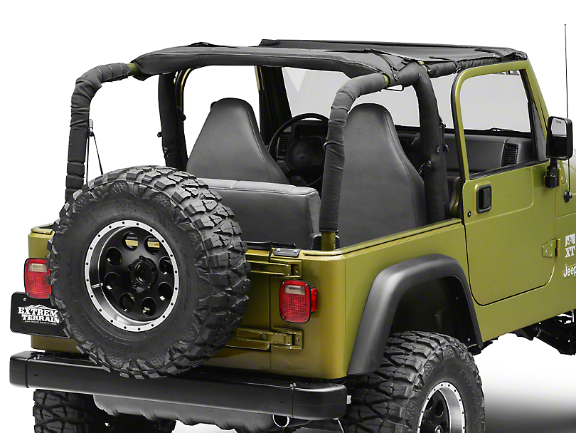 Bestop Targa-Style Sun Bikini Top - Black Diamond (97-06 Jeep Wrangler TJ, Excluding Unlimited)
