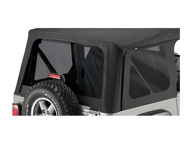 Bestop Tinted Replacement Window Set for Replace-A-Top - Black Diamond (97-02 Jeep Wrangler TJ)