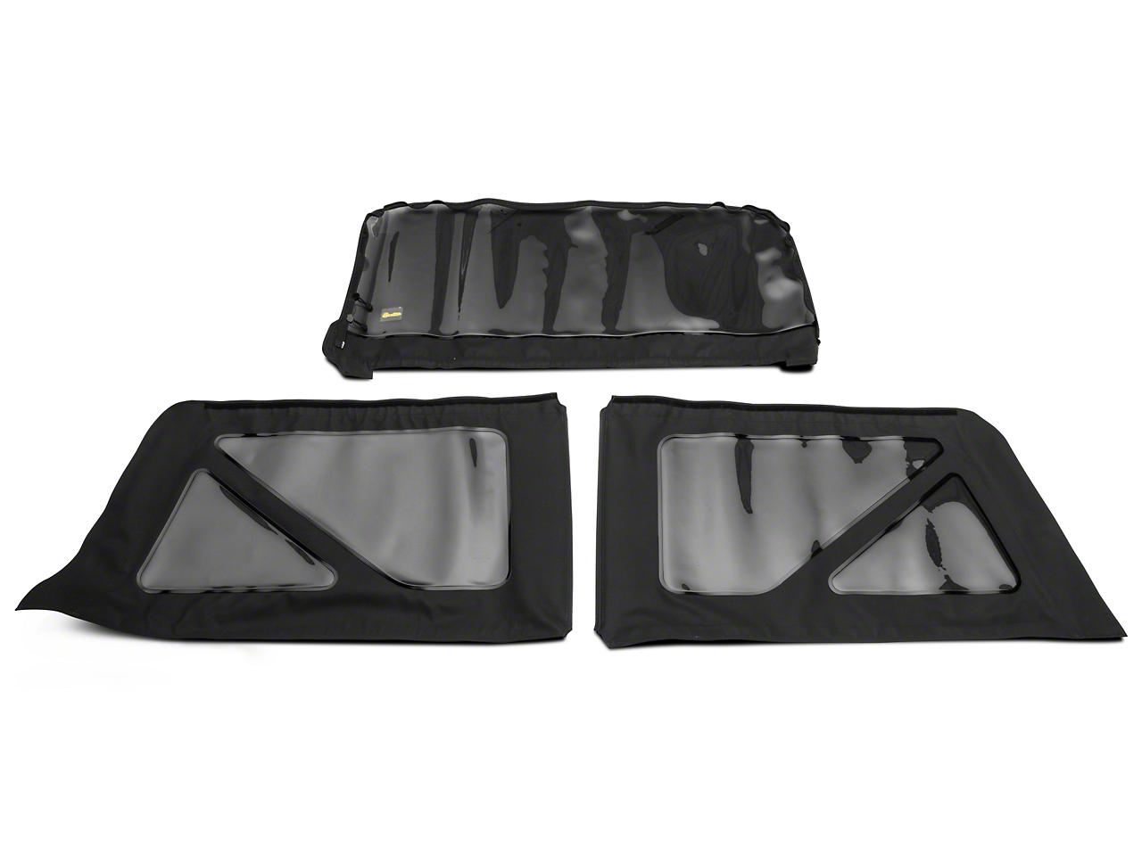 Bestop Tinted Replacement Window Set for Sailcloth Replace-a-Top/SuperNX/Factory Soft Tops - Black Diamond (11-18 Jeep Wrangler JK 2 Door)