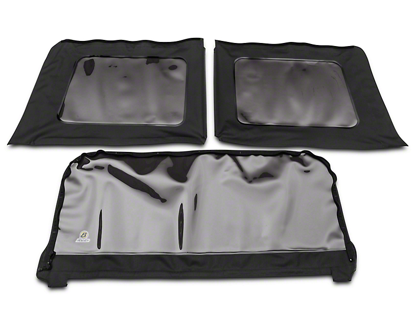 Bestop Tinted Replacement Window Set for Sailcloth Replace-a-Top/SuperNX/Factory Soft Tops - Black Diamond (11-18 Jeep Wrangler JK 4 Door)