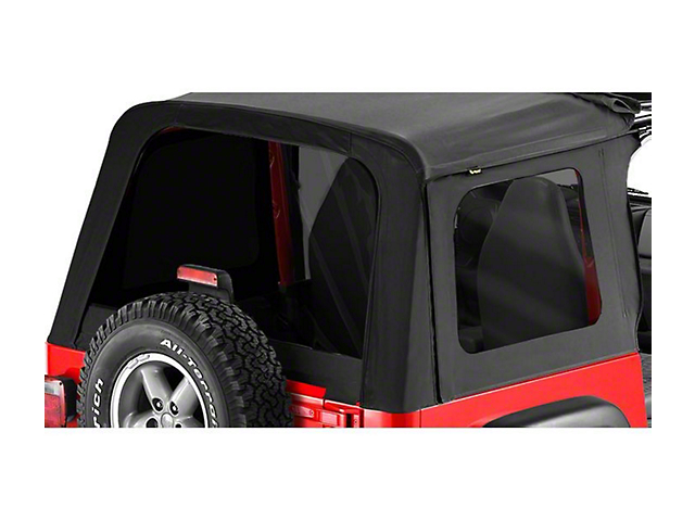 Bestop Tinted Replacement Window Set for Sunrider - Black Diamond (97-06 Jeep Wrangler TJ, Excluding Unlimited)
