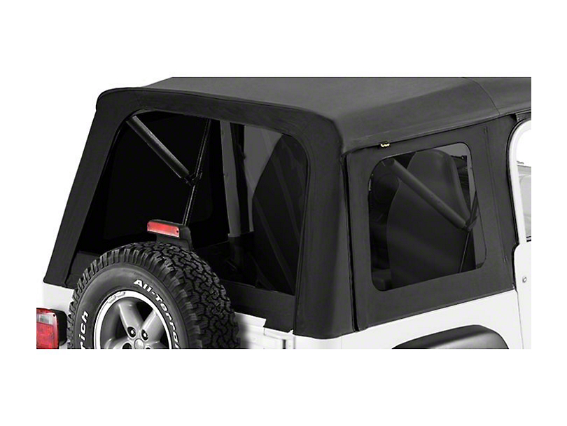 Bestop Tinted Replacement Window Set for Supertop Classic - Black Denim (97-06 Jeep Wrangler TJ, Excluding Unlimited)