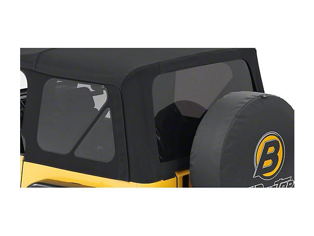 Bestop Tinted Replacement Window Set for Supertop NX - Black Twill (97-06 Jeep Wrangler TJ, Excluding Unlimited)