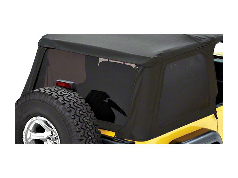 Bestop Tinted Replacement Window Set for Trektop NX - Black Twill (97-06 Jeep Wrangler TJ, Excluding Unlimited)