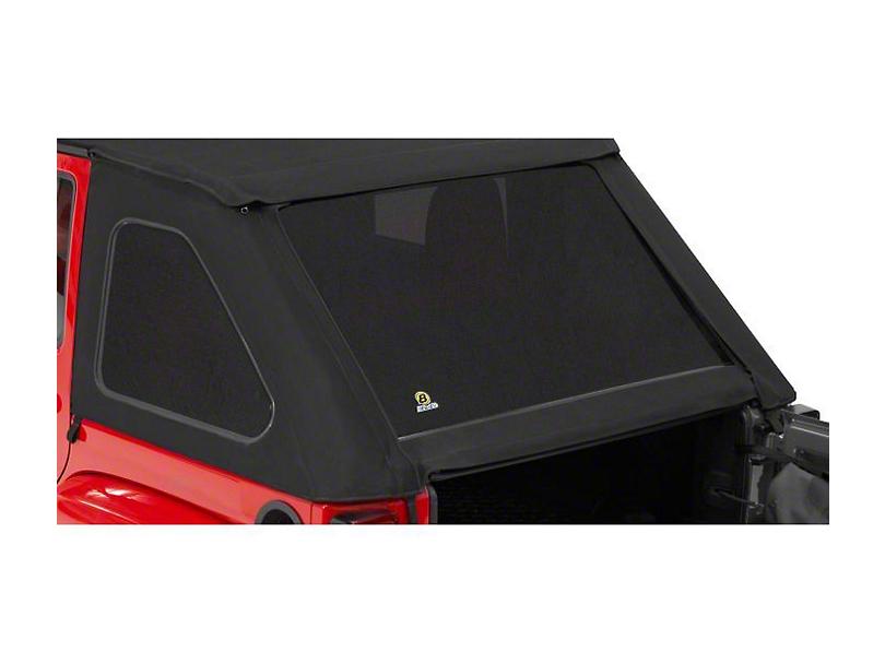 Bestop Tinted Replacement Window Set for Trektop NX - Black Twill (07-18 Jeep Wrangler JK 4 Door)