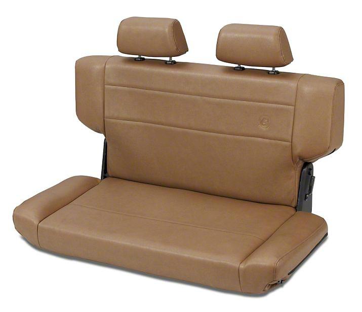 Bestop Trailmax II Fold & Tumble Rear Bench Seat in Vinyl - Spice (97-06 Wrangler TJ)