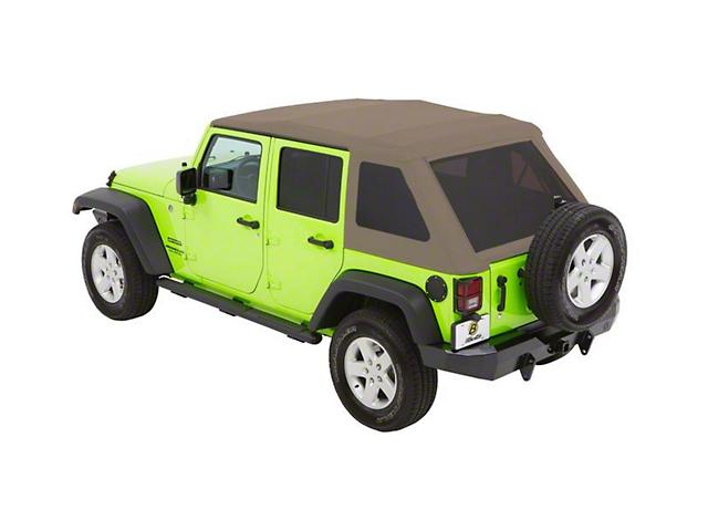 Bestop Trektop NX Glide Soft Top - Beige Twill (07-18 Jeep Wrangler JK 4 Door)