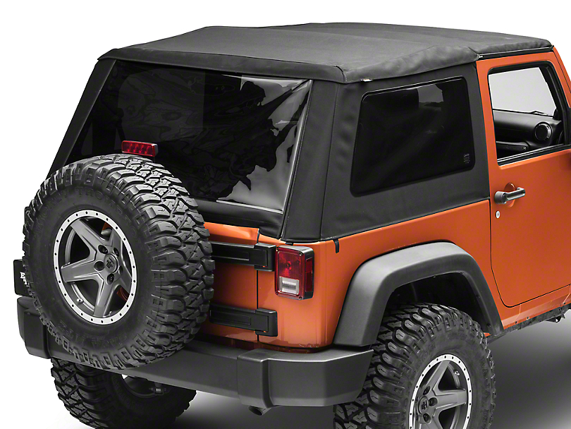 Bestop Trektop NX Glide Soft Top - Black Twill (07-18 Jeep Wrangler JK 2 Door)