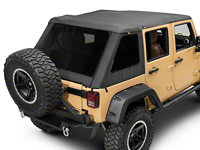 Bestop Trektop NX Glide Soft Top - Black Twill (07-18 Jeep Wrangler JK 4 Door)