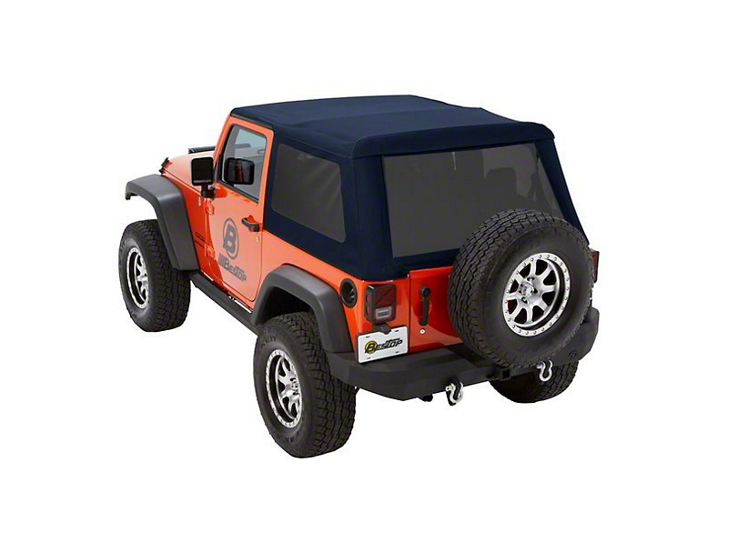 Bestop Trektop NX Glide Soft Top - Blue Twill (07-18 Jeep Wrangler JK 2 Door)
