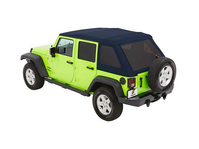 Bestop Trektop NX Glide Soft Top; Blue Twill (07-18 Jeep Wrangler JK 4 Door)