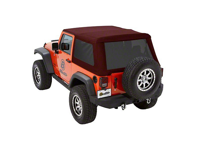 Bestop Trektop NX Glide Soft Top - Red Twill (07-18 Jeep Wrangler JK 2 Door)