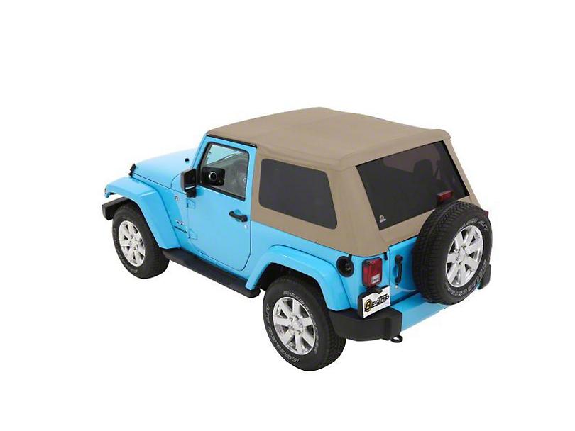 Bestop Trektop NX Soft Top - Beige Twill (07-18 Jeep Wrangler JK 2 Door)