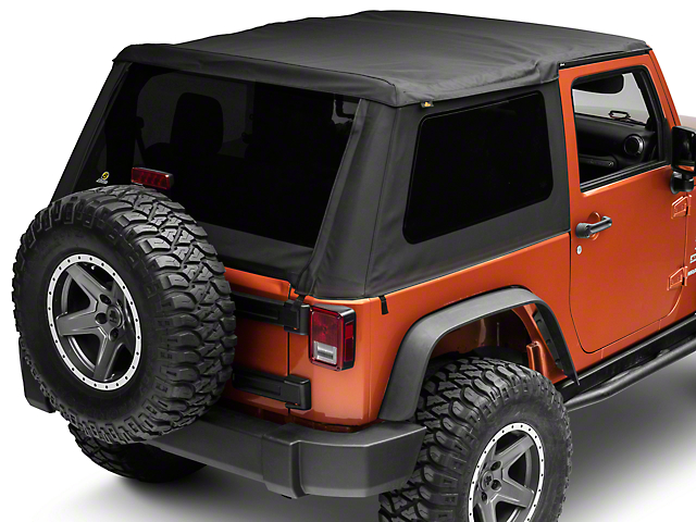 Bestop Trektop NX Soft Top; Black Diamond (07-18 Jeep Wrangler JK 2 Door)