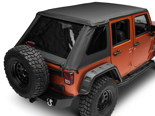 Jeep Wrangler Soft Top >> Bestop Jeep Wrangler Trektop Nx Plus Soft Top Black Diamond