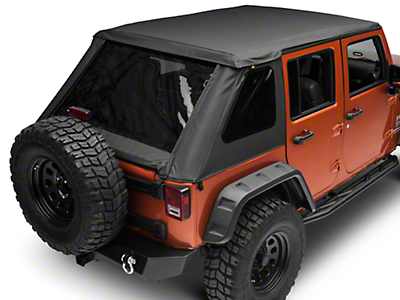Bestop Trektop NX Plus Soft Top - Black Diamond (07-18 Jeep Wrangler JK 4 Door)
