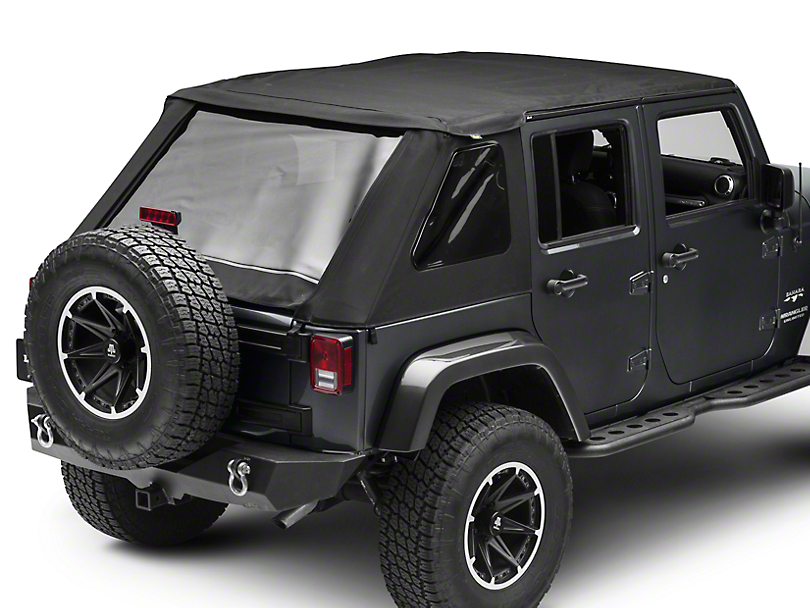 Bestop The All New Trektop NX Soft Top - Black Twill (07-18 Jeep Wrangler JK 4 Door)