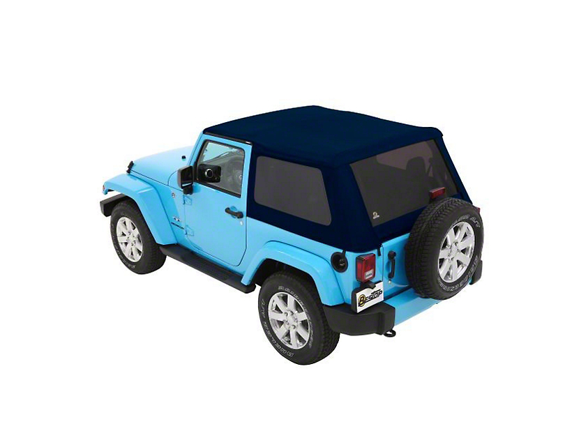 Bestop Trektop NX Soft Top - Blue Twill (07-18 Jeep Wrangler JK 2 Door)