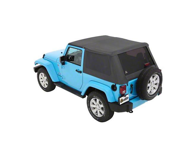 Bestop Trektop NX Soft Top - Gray Twill (07-18 Jeep Wrangler JK 2 Door)
