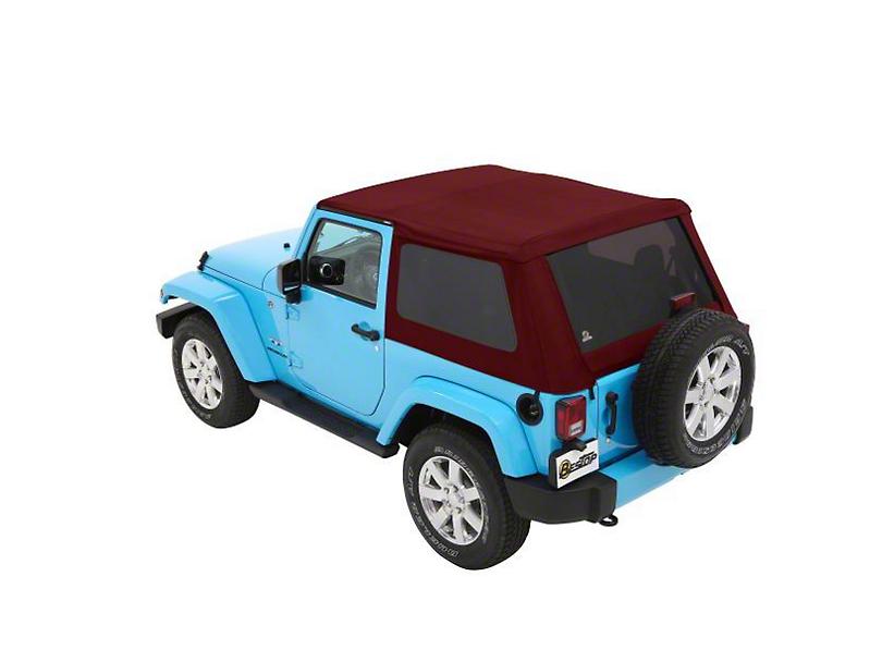 Bestop The All New Trektop NX Soft Top - Red Twill (07-18 Jeep Wrangler JK 2 Door)