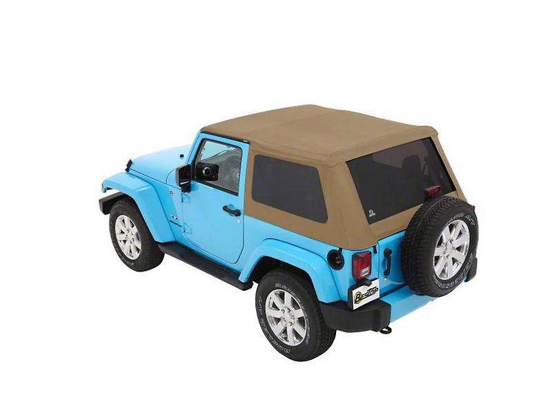 Bestop Trektop NX Soft Top - Tan Twill (07-18 Jeep Wrangler JK 2 Door)