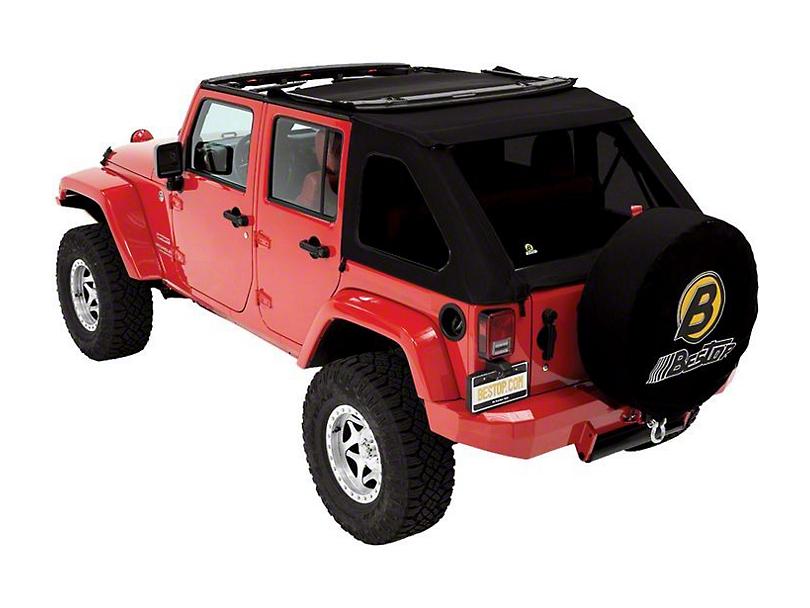 Bestop Trektop NX Replace-a-Top - Black Twill (07-18 Jeep Wrangler JK 4 Door)