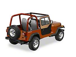Bestop Upper Door Sliders for Replace-a-Top or Factory Soft Tops - Spice (88-95 Jeep Wrangler YJ)
