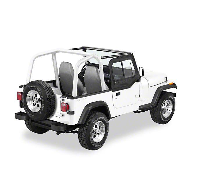 Bestop Upper Door Sliders for Supertop Classic, Sunrider or Halftop - Black Denim (88-95 Jeep Wrangler YJ)