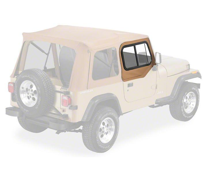 Bestop Upper Door Sliders for Supertop Classic, Sunrider or Halftop - Spice (88-95 Jeep Wrangler YJ)