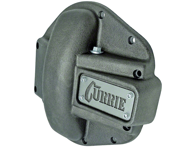 Currie Iron Differential Cover for RockJock/Dana 44 Housings; Unpainted (07-18 Jeep Wrangler JK)