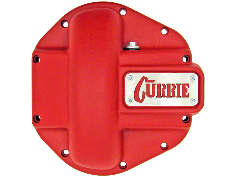 Currie Iron Differential Cover for RockJock/Dana 44 Housings - Textured Red (07-18 Jeep Wrangler JK)