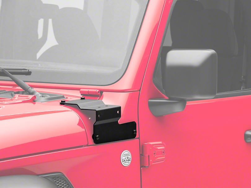 Mopar A-Pillar Light Mounting Brackets (18-19 Jeep Wrangler JL)