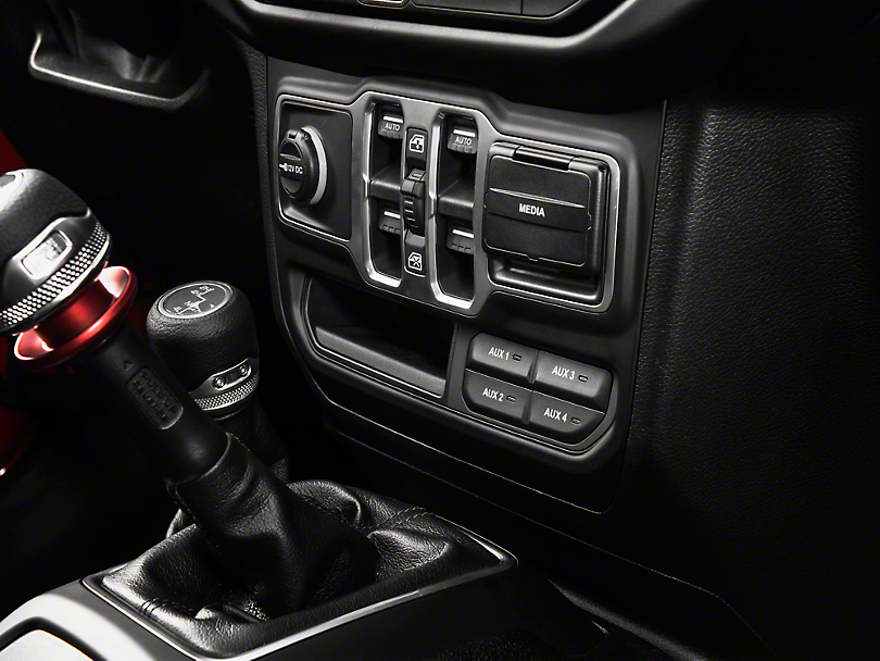 Mopar Auxiliary Switch Bank (18-19 Jeep Wrangler JL, Excluding Rubicon)