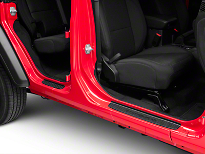 Mopar Door Sill Guards - Black (2018 Jeep Wrangler JL 4 Door)