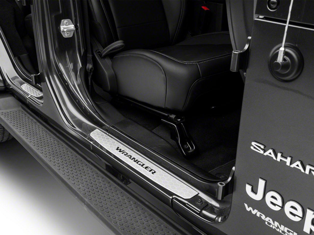 Mopar Door Sill Guards - Stainless Steel (18-19 Jeep Wrangler JL 4 Door)