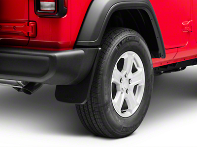 Mopar Rear Molded Splash Guards (2018 Wrangler JL, Excluding Rubicon)