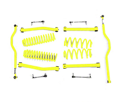 Steinjager 2.5 in. Expanded Lift Kit - Neon Yellow (07-18 Jeep Wrangler JK)