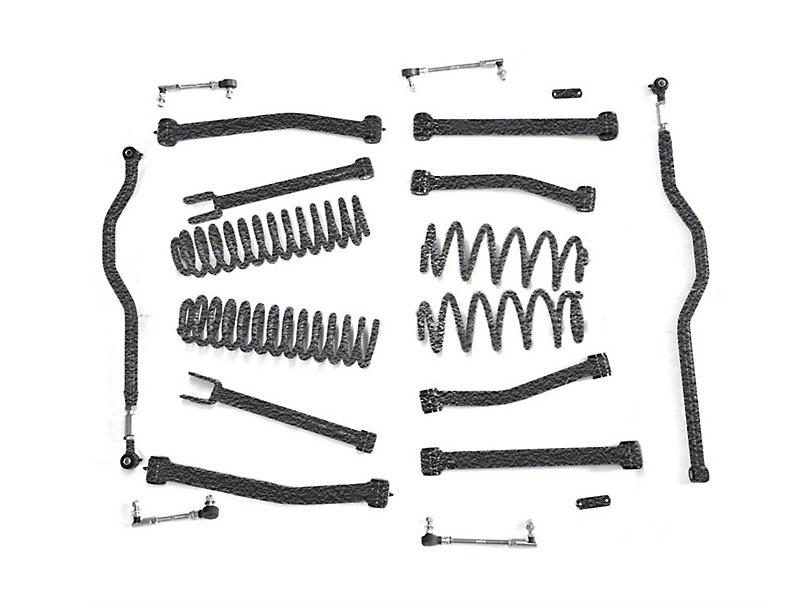 Steinjager 4 in. Advanced Lift Kit - Textured Black (07-18 Jeep Wrangler JK)