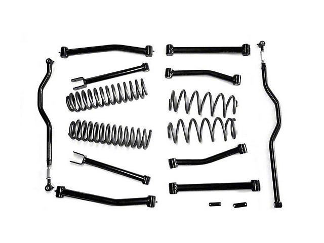 Steinjager 4 in. Advanced Lift Kit w/o End Links - Black (07-18 Jeep Wrangler JK)
