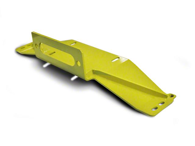 Steinjager Bolt-On Winch Plate - Lemon Peel (97-06 Jeep Wrangler TJ)