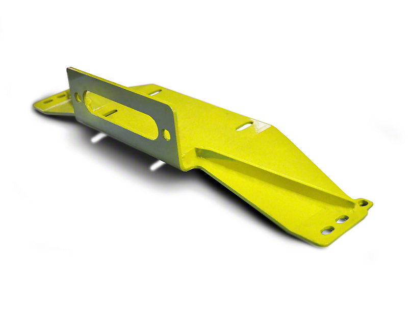 Steinjager Bolt-On Winch Plate - Neon Yellow (97-06 Jeep Wrangler TJ)