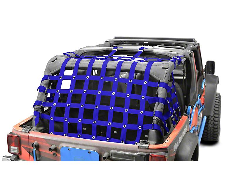 Steinjager Cargo Net - Blue (07-18 Jeep Wrangler JK 4 Door)