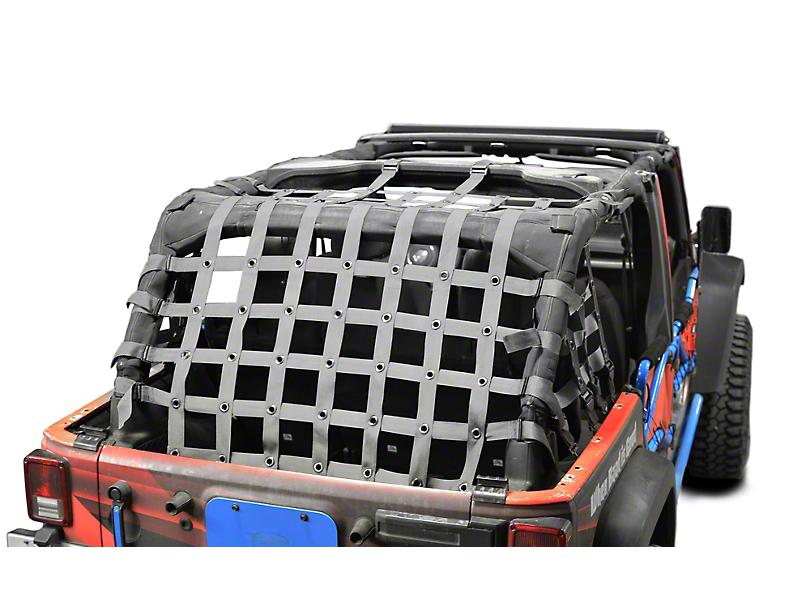 Steinjager Cargo Net; Gray (07-18 Jeep Wrangler JK 4 Door)