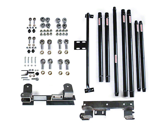 Steinjager Chrome Moly Tube Long Arm Tavel Kit for 2 to 6-Inch Lift; Black (97-06 Jeep Wrangler TJ)