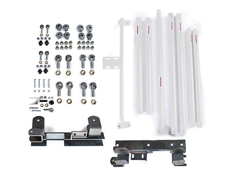 Steinjager Chrome Moly Tube Long Arm Tavel Kit for 2-6 in. Lift - Cloud White (97-06 Jeep Wrangler TJ)