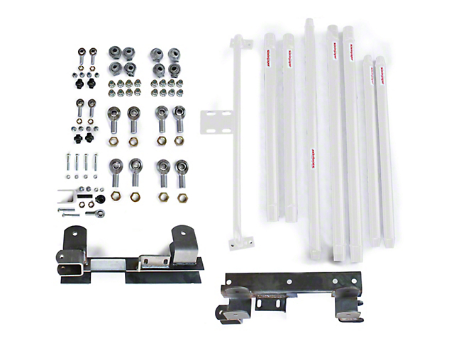 Steinjager Chrome Moly Tube Long Arm Tavel Kit for 2 to 6-Inch Lift; Cloud White (97-06 Jeep Wrangler TJ)