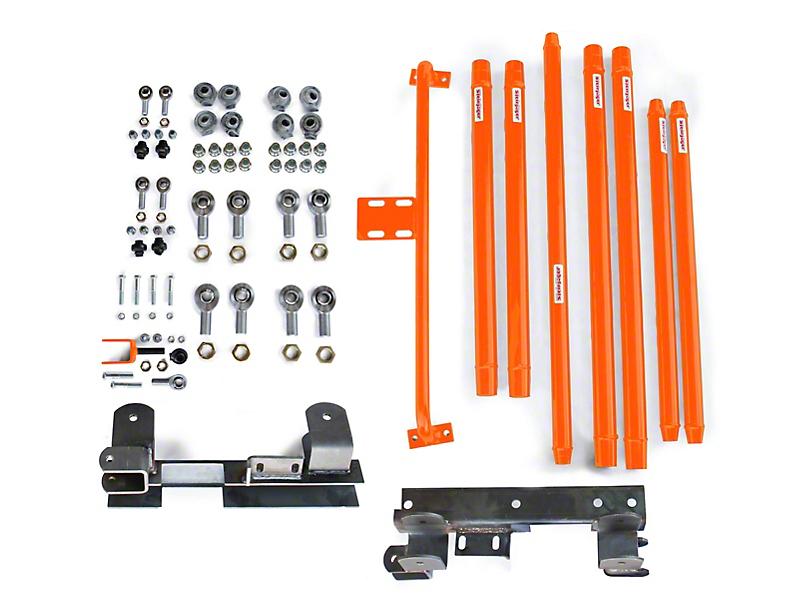 Steinjager Chrome Moly Tube Long Arm Tavel Kit for 2-6 in. Lift - Fluorescent Orange (97-06 Jeep Wrangler TJ)