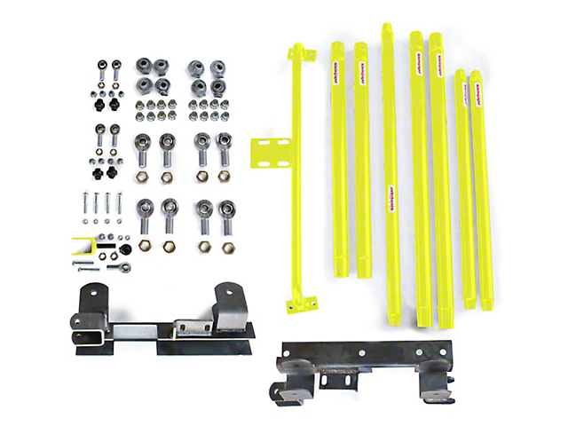 Steinjager Chrome Moly Tube Long Arm Tavel Kit for 2 to 6-Inch Lift; Lemon Peel (97-06 Jeep Wrangler TJ)