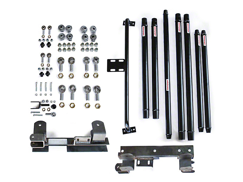 Steinjager DOM Tube Long Arm Travel Kit for 2 to 6-Inch Lift; Black (97-06 Jeep Wrangler TJ)